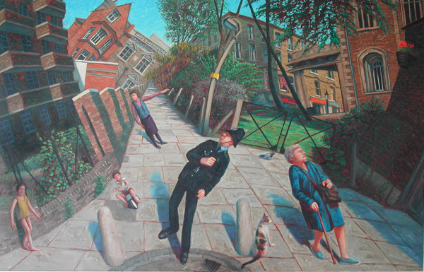 """Islington"" 1987 Oil on Canvas 44"" x 70"" John A. Parks"