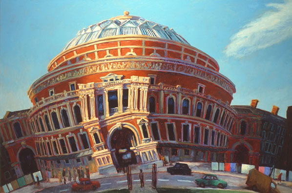 """The Royal Albert Hall"" 1987 Oil on Canvas 26"" x 38"" John A. Parks"