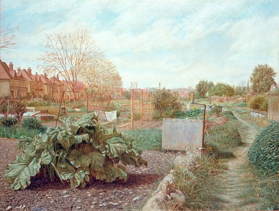 """Allotments"" 1991 Oil on Panel 7"" x 11"" John A. Parks"