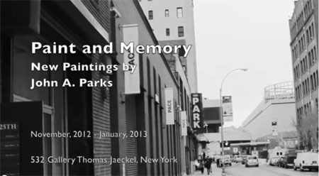 Film of John A. Parks discussing recent work