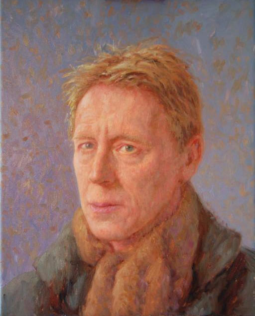 "John A. Parks ""Self Portrait"" 2013. Oil on Linen 24"" x 16"""